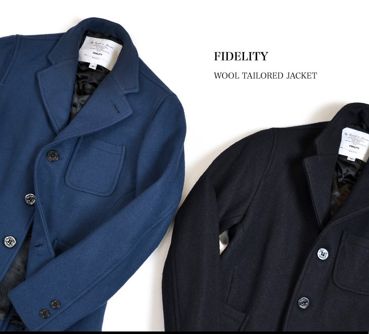 FIDELITY(フィデリティ) 24OZ 3B ウールテーラードジャケット 別注