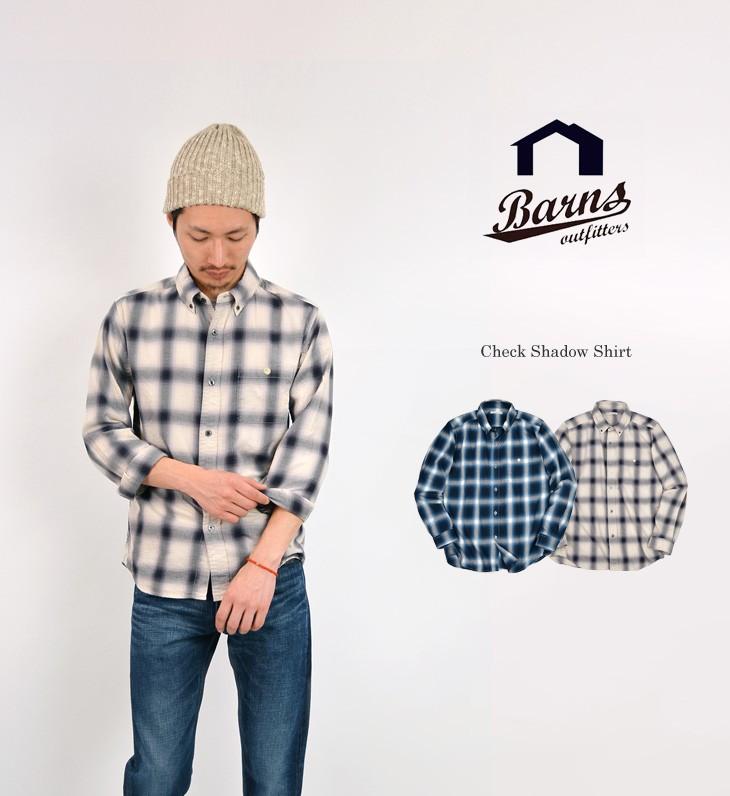BARNS OUTFITTERS(バーンズ アウトフィッターズ) BR-6260 シャドウシャツ ストライプ / SHADOW SHIRT STRIPE