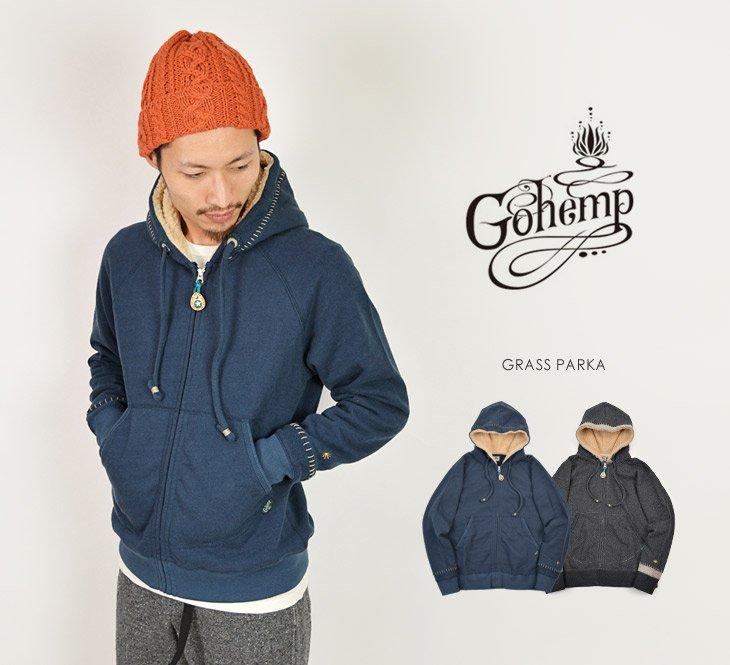 GOHEMP(ゴーヘンプ) グラスパーカー / スウェット / 裏毛 / メンズ / GRASS PARKA
