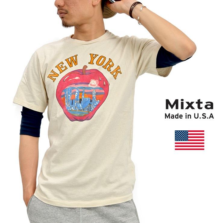 MIXTA (ミクスタ) ヴィンテージ プリントTシャツ BIG BIG APPLE / R1609 / アメカジ メンズ 半袖