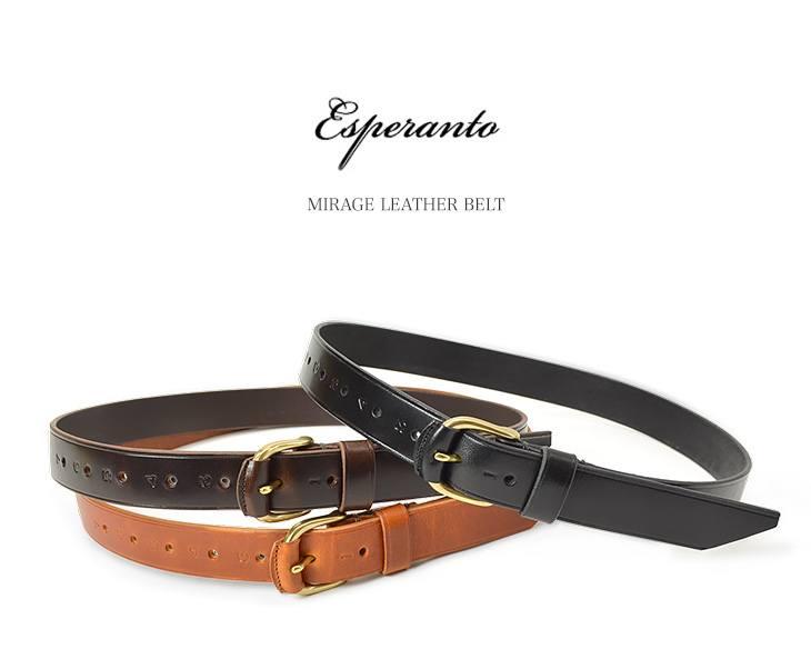 ESPERANTO(エスペラント) ミラージュレザーベルト(30mm) / ベルト / MIRAGE LEATHER BELT / 日本製 / ESP-6145