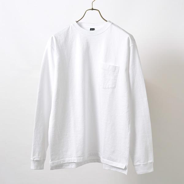 別注 ヘビー セットインスリーブ 長袖 ポケット Tシャツ