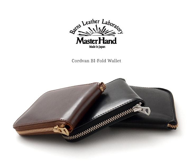 61039dbad699 ... の職人達の技術の下で、手間暇をかけて丁寧に作られた特別なコードバンを使用した二つ折財布。内貼りには、国内最高級の栃木レザー、通称「赤タグ」レザー を使用。